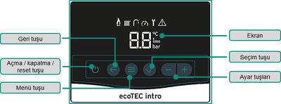 Vaillant Ecotec İntro 24 Kw (16.000 Kcal) Tam Yoğuşmalı Kombi
