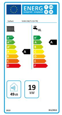 Vaillant ecoTEC 236/7-2 Pure 19/23 Kw 17.000K Tam Yoğuşmalı Kombi